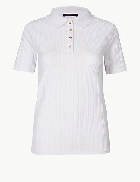 Textured Regular Fit Polo Shirt