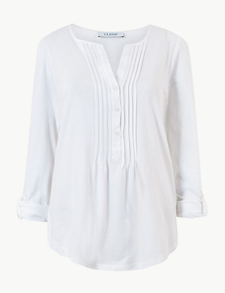 Regular Fit V-Neck Long Sleeve Blouse