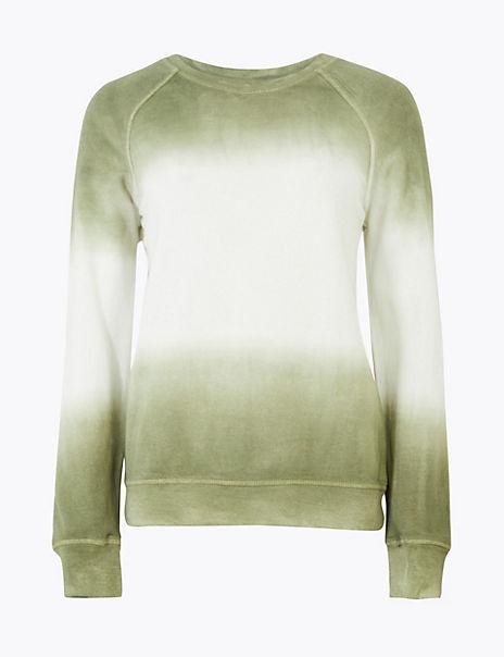 Pure Cotton Ombre Sweatshirt