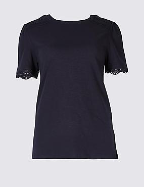 Pure Cotton Round Neck Short Sleeve T-Shirt