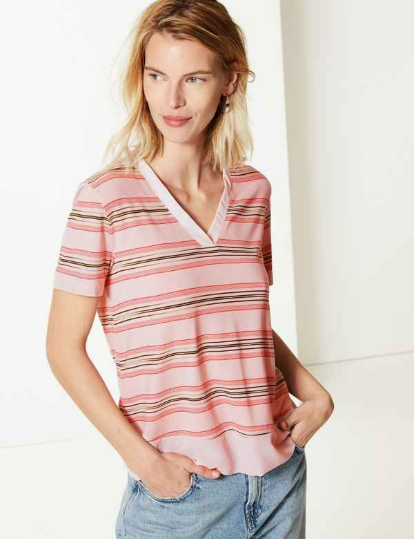 e67b11d9e267f3 Womens Viscose Mix Tops & T-Shirts | M&S