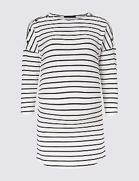 Maternity Modal Blend Striped T-Shirt