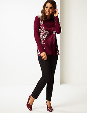 Floral Print Long Sleeve Tunic