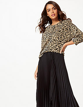Animal Print Long Sleeve Sweatshirt
