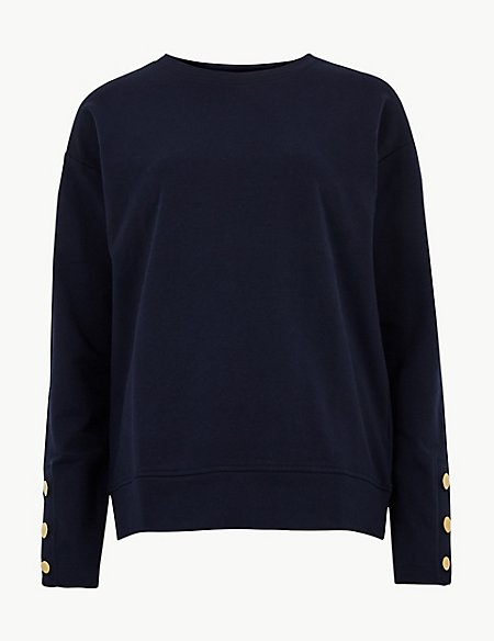 Round Neck Long Sleeve Sweatshirt