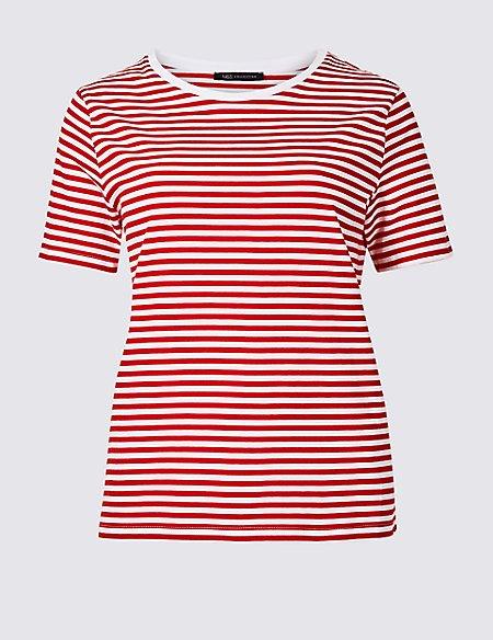 Pure Supima Cotton Striped T-Shirt