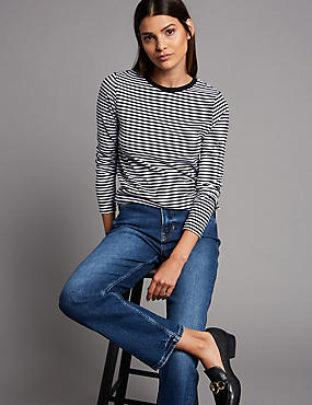 Pure Organic Cotton Striped Long Sleeve Top