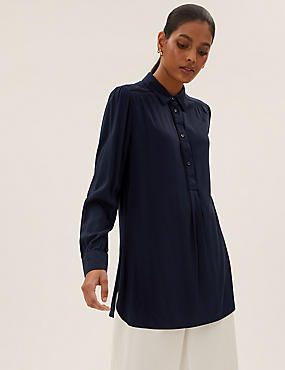 Collared Relaxed Longline Shirt