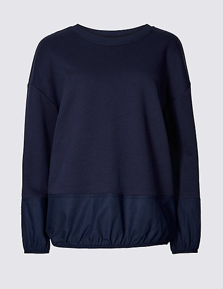 Cotton Rich Round Neck Sweatshirt