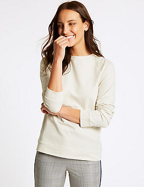 Pure Cotton Round Neck Sweatshirt