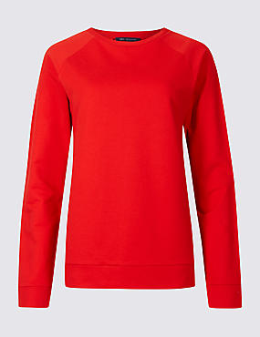 Pure Cotton Round Neck Long Sleeve Top