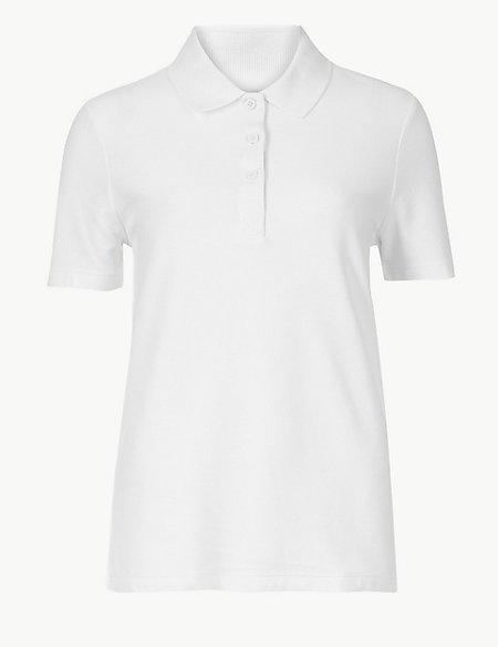 Pure Cotton Short Sleeve Polo Shirt