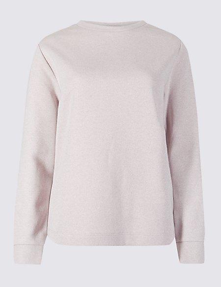 Cotton Rich Sparkly Long Sleeve Sweatshirt