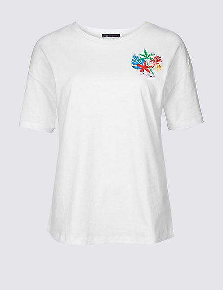 Pure Cotton Printed Short Sleeve T-Shirt