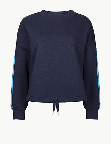 Cotton Rich Tie Waist Sweatshirt