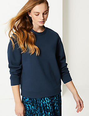 Cotton Rich Long Sleeve Sweatshirt