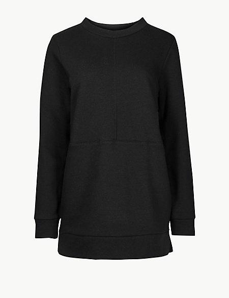 Cotton Rich Longline Long Sleeve Sweatshirt