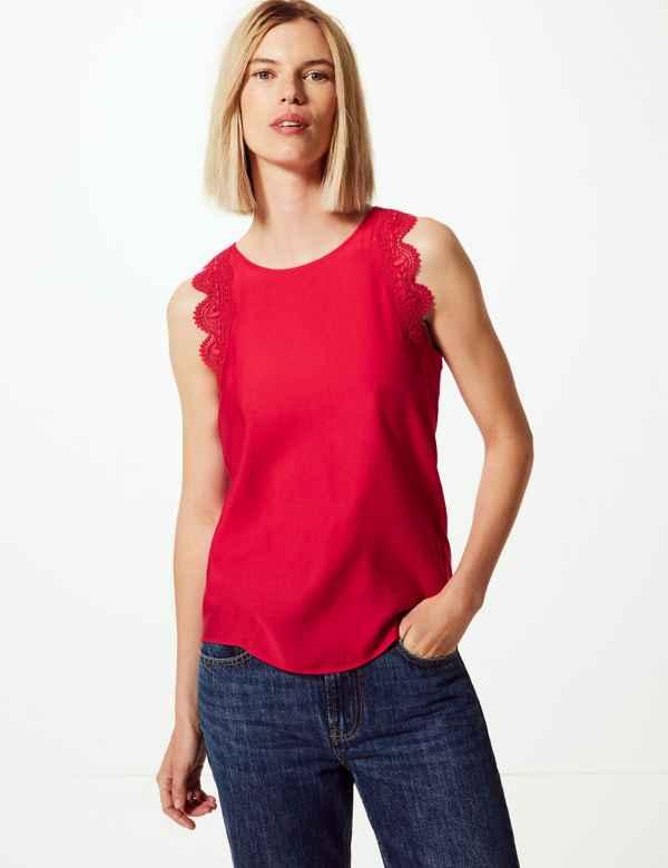 48e93af3 M&S Collection Womens Tops & T Shirts | Cotton & Linen | M&S