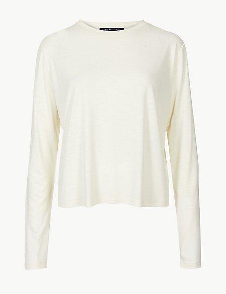 Super Soft Round Neck Long Sleeve T-Shirt