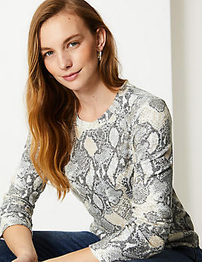 Cosy Animal Print Long Sleeve Top