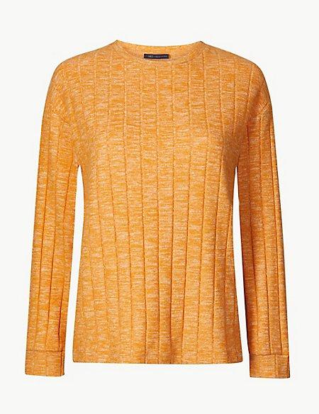 Textured Cosy Long Sleeve Sweatshirt