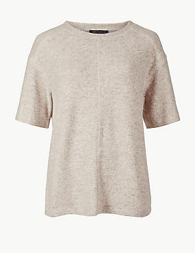Cosy Round Neck Half Sleeve Top