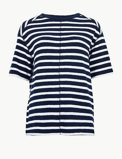 952526a619e Pruhované tričko s polovičním rukávem