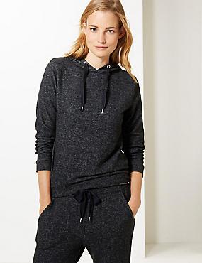 Textured Hooded Neck Sweatshirt