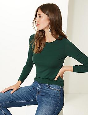 Modal Rich Round Neck Long Sleeve T-Shirt
