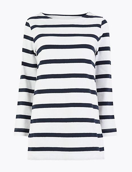 Cotton Longline Striped Cornwall Tunic
