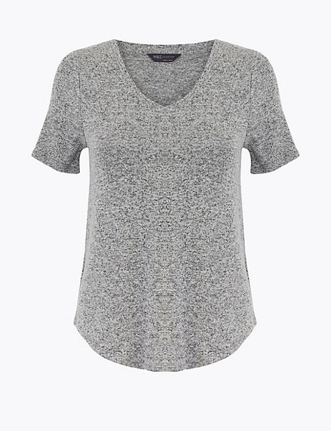 Luxe Touch V Neck T-Shirt