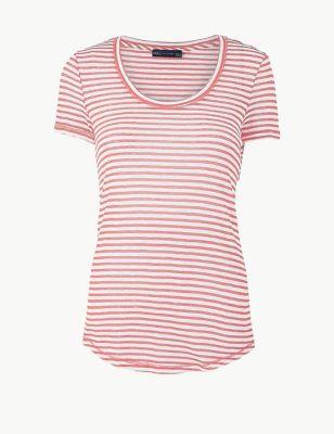 3a7d7974 Cotton Rich Striped Regular Fit T-Shirt £12.50