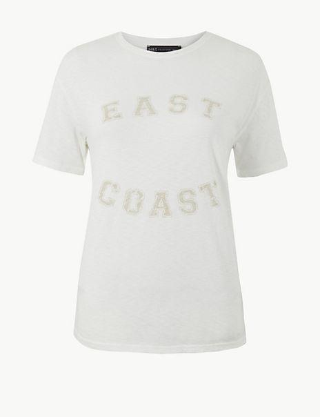 Pure Cotton East Coast Regular Fit T-Shirt