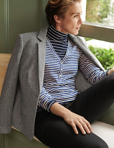 Striped Fitted Long Sleeve Top