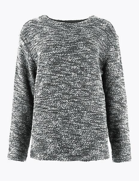 Pure Cotton Boucle Sweatshirt
