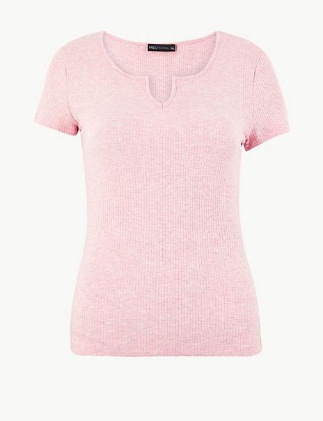 Textured Regular Fit T-Shirt