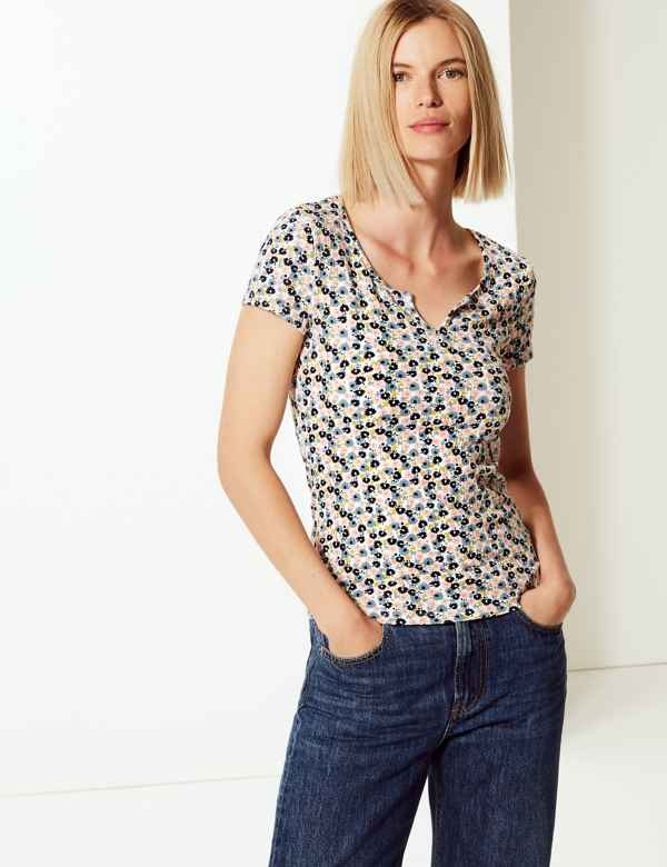 9a8fd81483c2 Womens Tops & T shirt | Cool Printed Ladies Tshirts | M&S