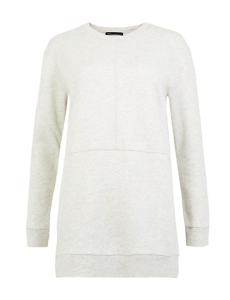 Cotton Rich Longline Sweatshirt