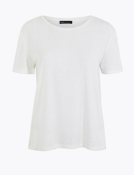 Lined Blend Relaxed Fit T-Shirt