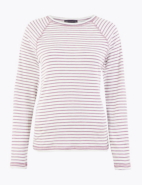 Striped Straight Fit Top