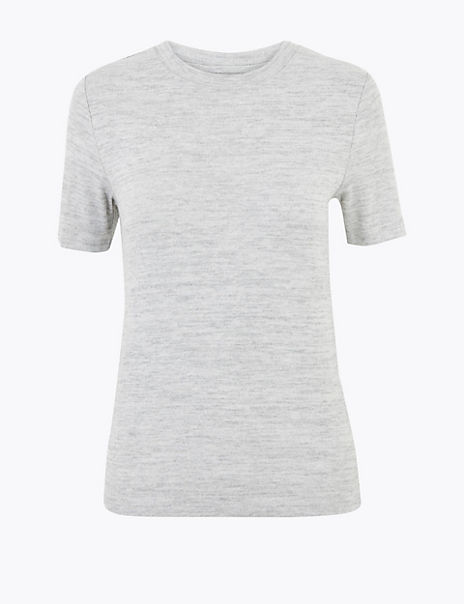 Round Neck Straight Fit T-Shirt