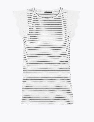 Pure Cotton Striped Straight Fit Vest
