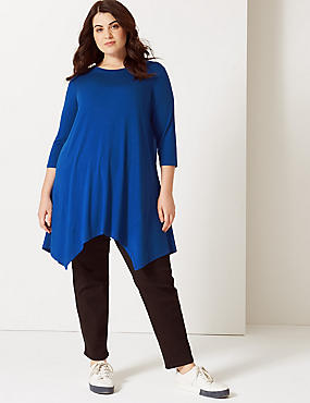 CURVE Round Neck ¾ Sleeve Tunic