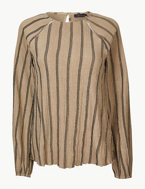 Striped Regular Fit Blouse