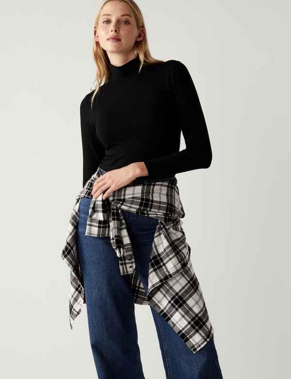 8f352ac659980 Textured Longline Short Sleeve Tunic