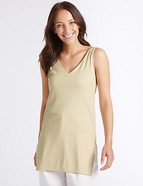 Sparkly V-Neck Sleeveless Tunic