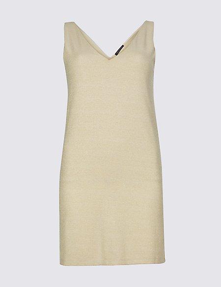 Sparkly V-Neck Sleeveless Tunic