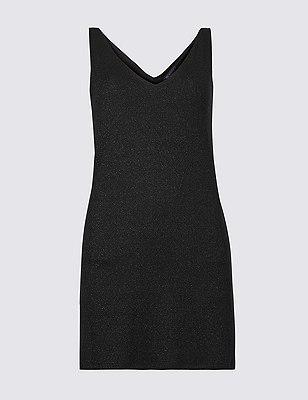 Marks & Spencer Sparkly V-Neck Sleeveless Tunic - - 6