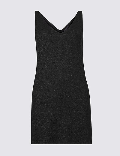 Outlet Professional Sast Marks & Spencer Sparkly V-Neck Sleeveless Tunic - - 6 Free Shipping Low Price oEOpaqiP