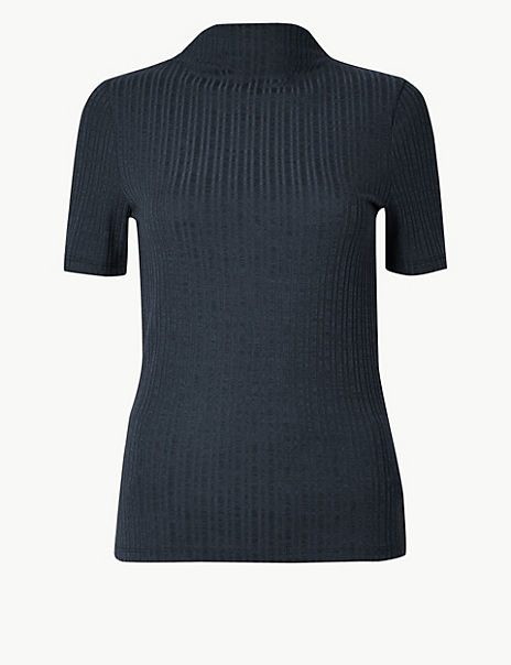 Textured Fitted Top